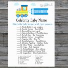 Toy Train Celebrity Baby Name Game,Toy Train Baby shower games,INSTANT DOWNLOAD--224