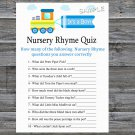 Toy Train Nursery Rhyme Quiz Game,Toy Train Baby shower games,INSTANT DOWNLOAD--224