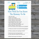 Toy Train How Well Do You Know Game,Toy Train Baby shower games,INSTANT DOWNLOAD--224