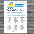 Toy Train What's In Your Purse Game,Toy Train Baby shower games,INSTANT DOWNLOAD--224