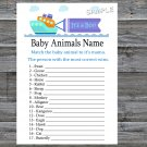 Toy Ship Baby Animals Name Game,Toy Ship Baby shower games,INSTANT DOWNLOAD--223
