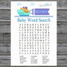 Toy Ship Baby Shower Word Search Game,Toy Ship Baby shower games,INSTANT DOWNLOAD--223