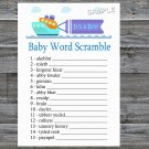 Toy Ship Baby Word Scramble Game,Toy Ship Baby shower games,INSTANT DOWNLOAD--223