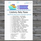 Toy Ship Celebrity Baby Name Game,Toy Ship Baby shower games,INSTANT DOWNLOAD--223