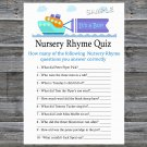 Toy Ship Nursery Rhyme Quiz Game,Toy Ship Baby shower games,INSTANT DOWNLOAD--223