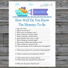Toy Ship How Well Do You Know Game,Toy Ship Baby shower games,INSTANT DOWNLOAD--223