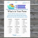 Toy Ship What's In Your Purse Game,Toy Ship Baby shower games,INSTANT DOWNLOAD--223