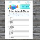 Toy Aircraft Baby Animals Name Game,Toy Aircraft Baby shower games,INSTANT DOWNLOAD--222