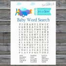 Toy Aircraft Baby Shower Word Search Game,Toy Aircraft Baby shower games,INSTANT DOWNLOAD--222