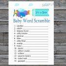 Toy Aircraft Baby Word Scramble Game,Toy Aircraft Baby shower games,INSTANT DOWNLOAD--222