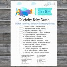 Toy Aircraft Celebrity Baby Name Game,Toy Aircraft Baby shower games,INSTANT DOWNLOAD--222