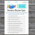 Toy Aircraft Nursery Rhyme Quiz Game,Toy Aircraft Baby shower games,INSTANT DOWNLOAD--222
