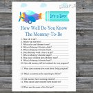 Toy Aircraft How Well Do You Know Game,Toy Aircraft Baby shower games,INSTANT DOWNLOAD--222