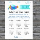 Toy Aircraft What's In Your Purse Game,Toy Aircraft Baby shower games,INSTANT DOWNLOAD--222