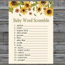 Sunflower Baby Word Scramble Game,Sunflower Baby shower games,INSTANT DOWNLOAD--220