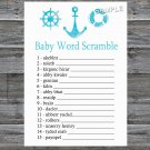 Nautical Baby Word Scramble Game,Nautical Baby shower games,INSTANT DOWNLOAD--219