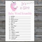 Pink Dinosaur Baby word scramble game,Pink Dinosaur Baby shower games,INSTANT DOWNLOAD--208