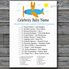 Toy aircraft Celebrity Baby Name Game,Toy aircraft Baby shower games,INSTANT DOWNLOAD--196