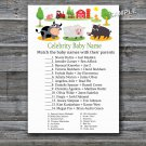 Farm animals Celebrity Baby Name Game,Barnyard Baby shower games,INSTANT DOWNLOAD--187