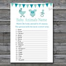 Baby carriage Baby Animals Name Game,Baby carriage Baby shower games,INSTANT DOWNLOAD--172