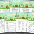 Woodland animals baby shower games package,Bear baby shower games pack,9 Games,INSTANT DOWNLOAD-146