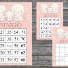 Elephant bingo game,Elephant bingo card,birthday bingo games,60 Printable card,INSTANT DOWNLOAD--306