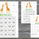 Cute giraffe bingo game,birthday bingo games,60 Printable card,INSTANT DOWNLOAD--281