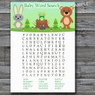 Woodland animals Baby Shower Word Search Game,Woodland Baby shower games,INSTANT DOWNLOAD--146