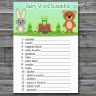 Woodland animals Baby word scramble game,Woodland Baby shower games,INSTANT DOWNLOAD--146