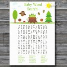 Woodland Baby Shower Word Search Game,Woodland Baby shower games,INSTANT DOWNLOAD--145