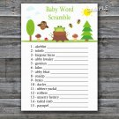 Woodland Baby word scramble game,Woodland Baby shower games,INSTANT DOWNLOAD--145