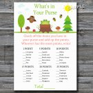 Woodland What's in your purse game,Woodland Baby shower games,INSTANT DOWNLOAD--145