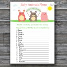 Farm animals Baby Animals Name Game,Farm Baby shower games,INSTANT DOWNLOAD--144