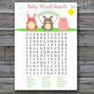 Farm animals Baby Shower Word Search Game,Farm Baby shower games,INSTANT DOWNLOAD--144