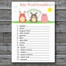 Farm animals Baby word scramble game,Farm Baby shower games,INSTANT DOWNLOAD--144