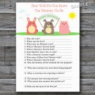 Farm animals How well do you know baby shower game,Farm Baby shower games,INSTANT DOWNLOAD--144