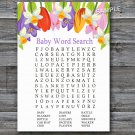 Tulip Baby Shower Word Search Game,Tulip Baby shower games,INSTANT DOWNLOAD--127