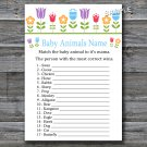 Flowers Baby Animals Name Game,Floral Baby shower games,INSTANT DOWNLOAD--126