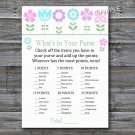 Flowers What's in your purse game,Floral Baby shower games,INSTANT DOWNLOAD--125