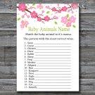 Sakura branch Baby Animals Name Game,Sakura branch Baby shower games,INSTANT DOWNLOAD--123