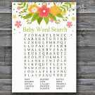 Florals Baby Shower Word Search Game,Flowers Baby shower games,INSTANT DOWNLOAD--122