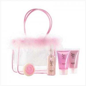 #36379 Strawberry Bath In Maribou Bag