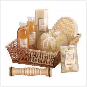 #36403 Ginger White Tea Set-basket
