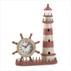 #36202 Wood Lighthouse Clock