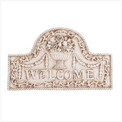 #34173 Flower Basket Welcome Plaque