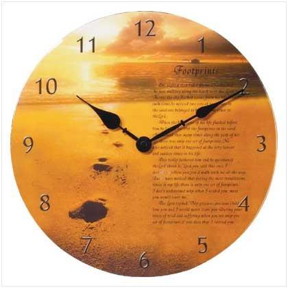 #35688 God's Footprints Clock