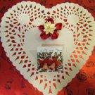 """Love In Bloom"" Valentine's Day Flower Earrings & Hair Clip Set"