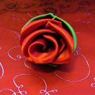 """Budding Affection"" Red Rose Bud Hairclip"