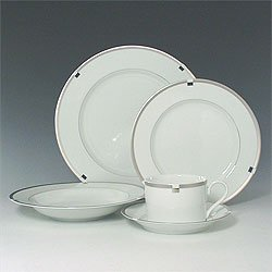 Mikasa Invitation Platinum 5 pc set Fine China