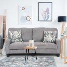 Home Living Room Upholstered Curved Armrest Fabric Sofa